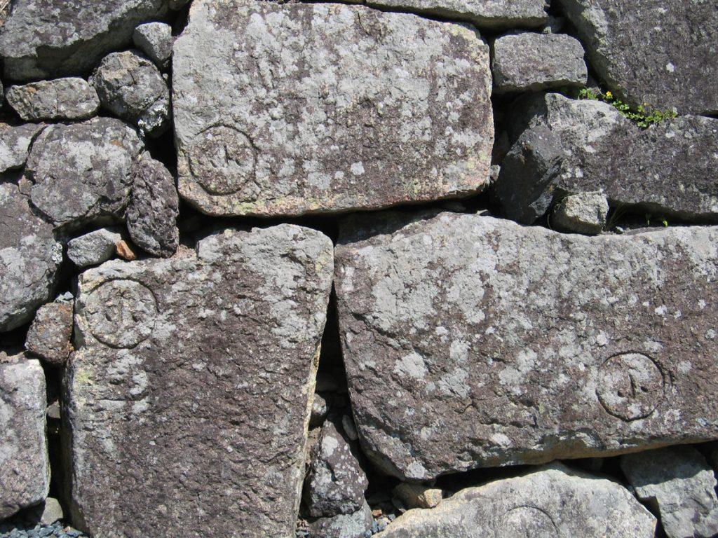 篠山城石垣の刻印1