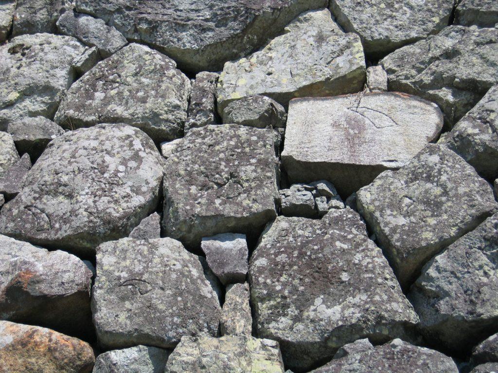 篠山城石垣の刻印2