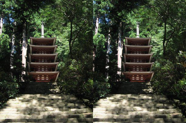 室生寺五重塔 平行法2