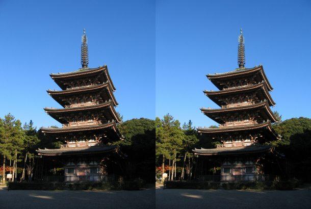醍醐寺五重塔 平行法
